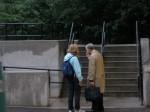 Meeting Michael Dukakis at the Longwood T stop