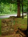Original stone wall dating to the early 1700's