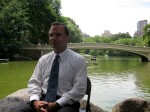 Commissioner Benepe and Bow Bridge