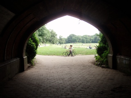 The view of the Long Meadow through Endale Arch